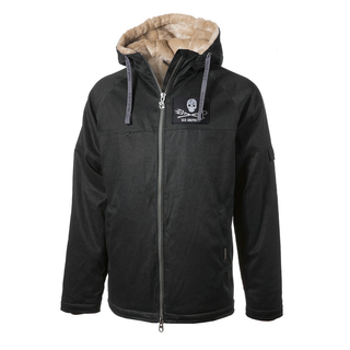 Mens Classic Hemp Hoodlamb SEA SHEPERD black S