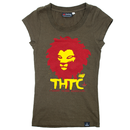 THTC Ladies Hemp Shirt, Chant down Babylon green