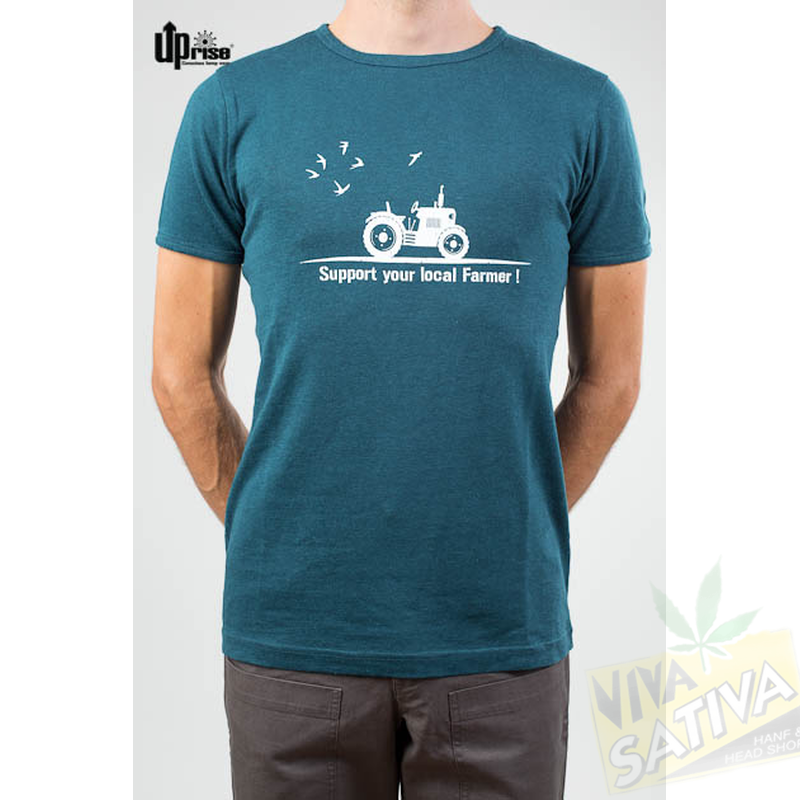 T shirt uprise printed support your local farmer for Local t shirt print shops