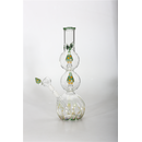 DuoGlass Doppel-Percolator-Bong green Shrooms